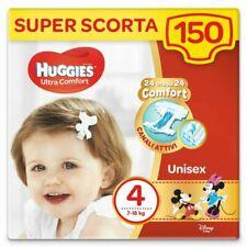 Huggies 150 Pannolini Ultra Comfort, Taglia 4 (7-18 Kg) - Bianchi