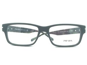 Prada PR22RV UAD  GREEN HAVANA EYEGLASSES New Authentic 54