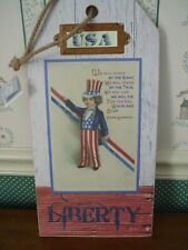 "Gallerie Ii-Usa Wall Plaque-Liberty-Measures 8"" X 16"" New-2019"