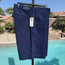 """POLO RALPH LAUREN 33""""  RELAXED FIT 10"""" INSEAM  MEN'S NAVY SHORTS-NWT $79.50"""