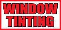 3'x6' Window Tinting - Vinyl Banner Sign - Tint