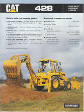 Caterpillar 428 Side shift backhoe loader brochure
