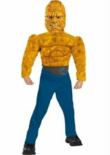 Fantastic 4 Deluxe THE THING Light up Muscle Costume size Medium 7-8 New 2005