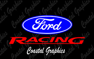 2x Ford Racing Vinyl Decal/Stickers