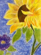 Beautiful Sunflower done in pastel by the artist, will mail in a number of sizes