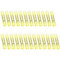 50PC Heat Shrink Insulated Butt Wire Crimp Connectors Terminals 4-6mm Yellow