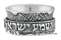SHEMA YISRAEL RING 925 Sterling Silver Jewish Jewelry Gift Hebrew Judaica Israel