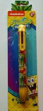 SPONGEBOB SQUAREPANTS (TM) 6 COLOR PEN WITH CLIP SCHOOL SUPPLIES NEW SUPPLIES