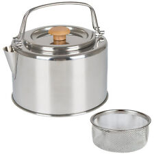BO-CAMP Teekessel Garda 1,2L Camping Kessel Teekanne Wasserkessel Tee Sieb Stahl
