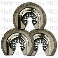"3 x 2-1/2"" Diamond Oscillating Tool Blades - Quick Release DeWalt Compatible"