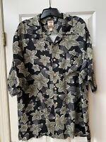 Tommy Bahama Silk Hawaiian Camp Shirt Short Sleeve Mens Size XL