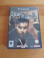 DEAD TO RIGHTS nuovo NEW NINTENDO GAME CUBE pal ITA sealed gc wii NAMCO ITALIANO