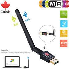 2.4G USB Wifi Dual Band Wireless Network Adapter LAN WPS Dongle AC600M Win7 10