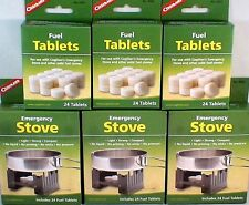 3-SURVIVAL EMERGENCY STOVES W/ 144 HEXAMINE ESBIT FUEL TABLETS KEEP WARM COOK