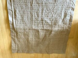Sonoma Square Pillow Cover Sham 26x26 Taupe Quilted Stitch NEW Display Model