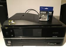 Epson Artisan 810 All-In-One Inkjet Printer Bundle With New Black Ink