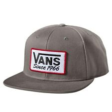 Vans - PATCHED Mens Snapback Hat (NEW) Gray Cap SINCE 1966 Grey : FREE SHIPPING