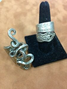 Beautiful Sterling Silver Ring Handmade Jewelry From Unique Vintage Silverware