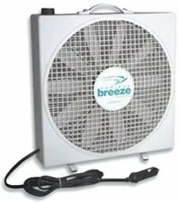 Durable Lightweight Endless Breeze Stand Alone Fan 12 Volt White Compact