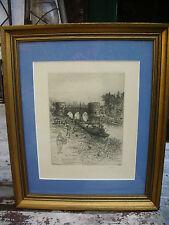 Roland ANHEISSER ( 1877- 1949) Tournai le pont des trous 1902