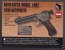ROTH-STEYR MODEL 1907 SEMI-AUTOMATIC 8mm Pistol Austria Gun Firearms PHOTO CARD