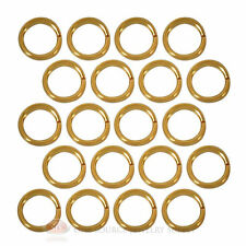(20) 22k Gold Plated Open Jump Rings 4mm Diameter 22 Gauge Jewelry Beading