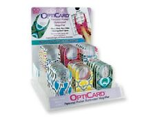 6pc OptiCard Pocket Illuminated LED Magnifier Slim Ergonomic Design Random Color