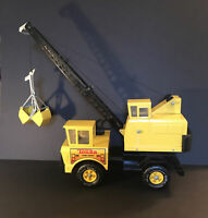 Vintage TONKA Mighty Turbo Diesel Crane Truck Press Steel Bucket Scoop - 1980s