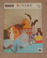 VINTAGE PATONS BAZAAR KNITTING CROCHET PATTERNS BOOKLET GIFTS NOVELTIES