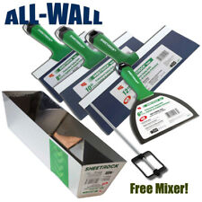"USG Sheetrock Pro Series Taping Knife Set 6-8-10-12 w/12"" Mud Pan + FREE Mixer!"
