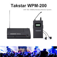 Takstar WPM-200 UHF Wireless Monitor System 50m In-Ear Stereo Headphones Premium