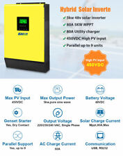 5000w Hybrid Solar Inverter 48V 230V Grid tied + Off Grid 80A MPPT 450V PV Input