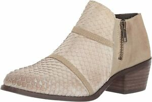 New Charles David Womens Leather Ankle Embossed Fashion Booties Boots Size US 6
