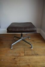 ORIGINAL VINTAGE 1970s CHARLES EAMES LEATHER SOFT PAD OTTOMAN FOR HERMAN MILLER