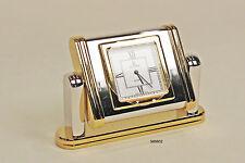 Hochwertige Ellora Quarz Tischuhr, 6,5 cm, Rhodium pol. und vergoldet  (989802)
