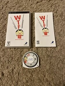 WTF - WORK TIME FUN (SONY PSP, 2006) D3Publisher Excellent