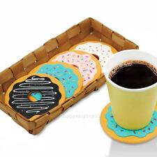 4Pcs Thermal Insulation Round Donut Coasters Drink Bottle Beverage Cup Mats Pad