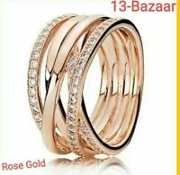 Pandora Authentic Entwining Rose Gold Ring All Sizes Gift RRP £75 with Pouch UK