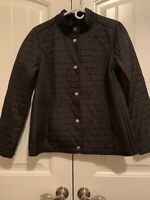Isaac Mizrahi Brushed Back Mixed Quilted Jacket - Small - Black