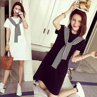 Summer Korean Fashion Women Short Sleeve T-Shirt Slim Casual Blouse Tops DressTS