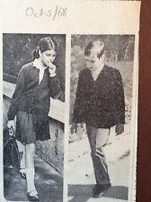 H1b Ephemera 1968 Picture Princess Caroline Prince Albert Return To School