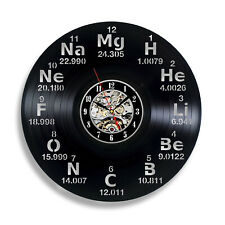 Chemistry Periodic Table Elements Wall Vinyl Clock School Science Laboratory