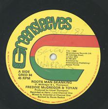 """"""" ROOTSMAN SKANKING."""" freddie mcgregor. GREENSLEEVES 12in 1982."""