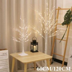 60CM/120CM White Easter Birch Tree LED Light Up Xmas Twig Tree Hanging Decor UK
