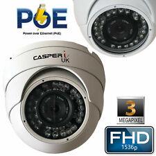 Casperi 3MP Hd Cámara Ip Poe Con Cable 1536P Seguridad Cctv Domo de velocidad de IR al aire libre
