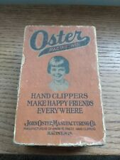 VINTAGE JOHN OSTER MFG STYLE E MODEL 000 BARBER SHOP HAND HAIR CLIPPERS TOOL