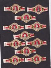 Série complète Bagues de Cigare label B44923 Homme Célèbre Flor Fina Gomme brune