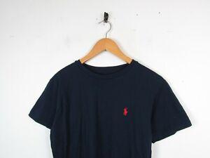 Mens RALPH LAUREN Navy blue 00s Short Sleeve Crew Neck T-Shirt Mens M Custom Fit