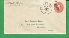 New Hampshire Cover - Lancaster 1902 W/ Duplex Cancel Postal Stationary - S8530