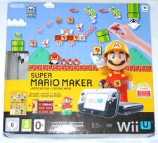 Nintendo Wii U premium pack 32gb consola + gamepad + cable + embalaje original negro